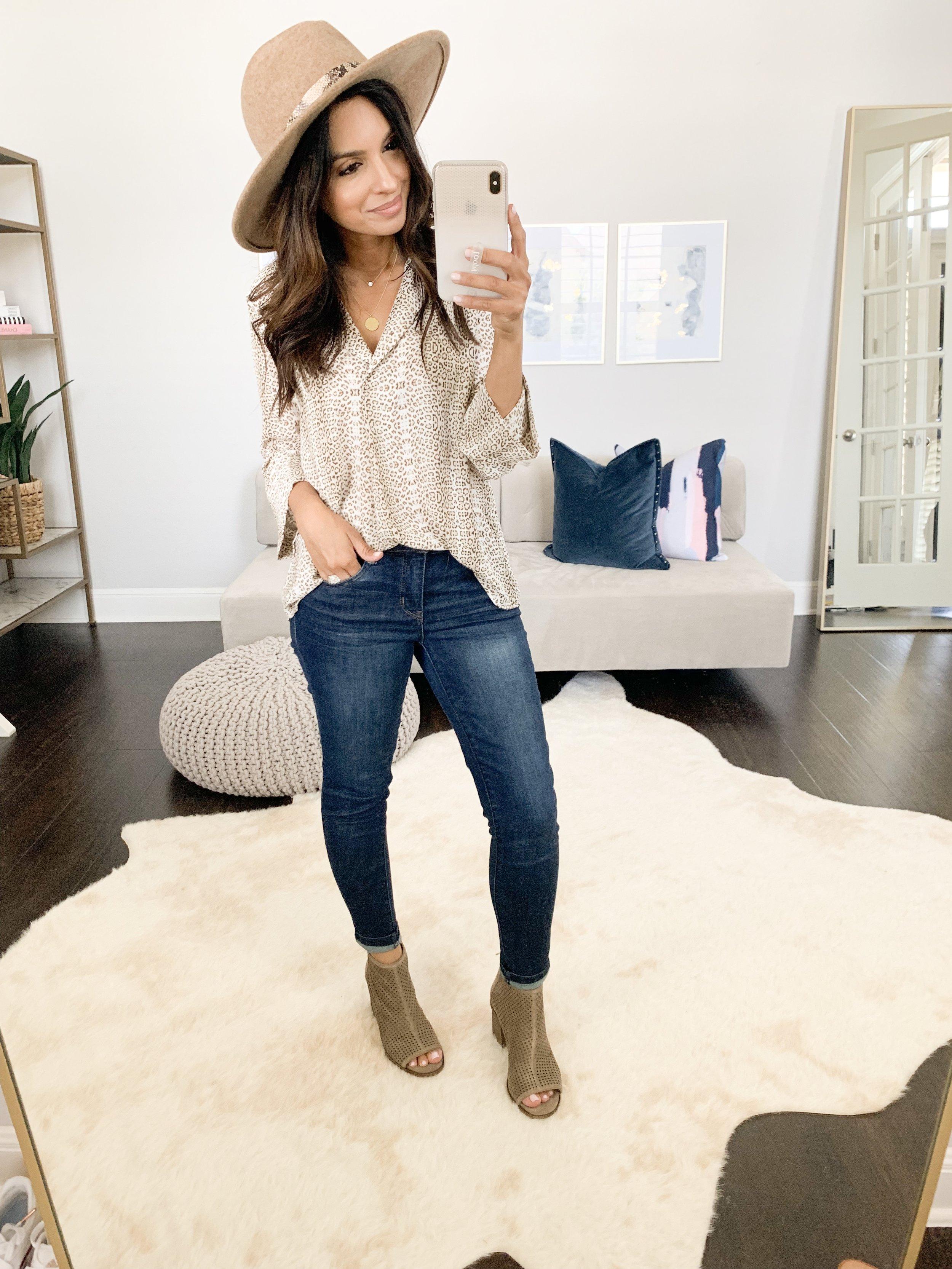 Top (XS) // Jeans (TTS) // Booties (TTS) // Hat